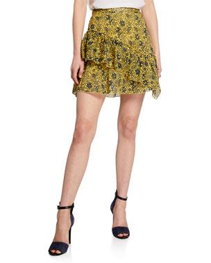 192e9e2ff2d Derek Lam 10 Crosby Asymmetrical Ruffle Tulip Mini Skirt