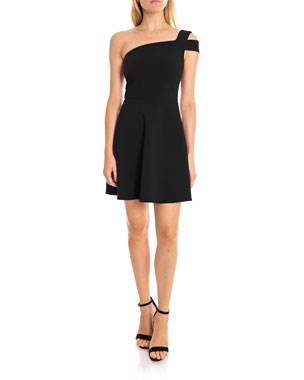 0a4398fefdb Likely Montgomery One-Shoulder Fit- -Flare Cocktail Dress