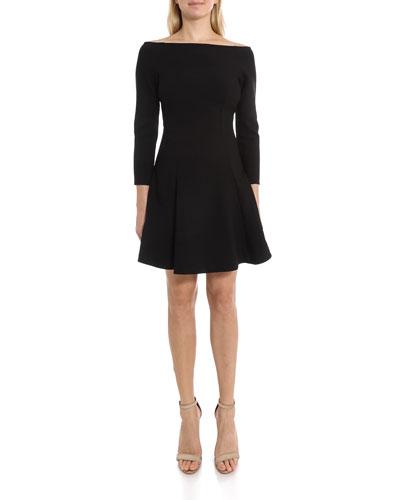 Meghan Off-Shoulder Fit-&-Flare Cocktail Dress