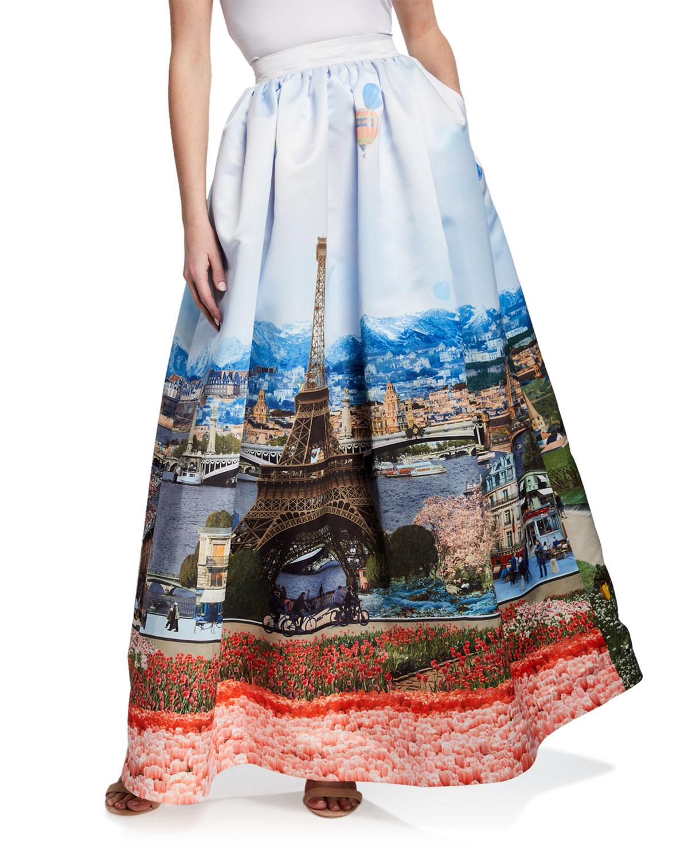 Alice Olivia Tina Long Ball Gown Skirt Neiman Marcus