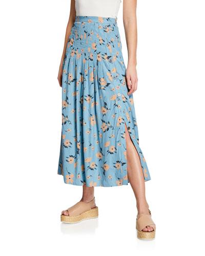 Daniella Floral Jacquard Skirt
