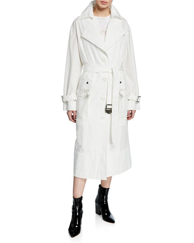 Military Long Trench Coat