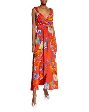 386595e68f3 PINKO Regan Printed Twill Maxi Dress