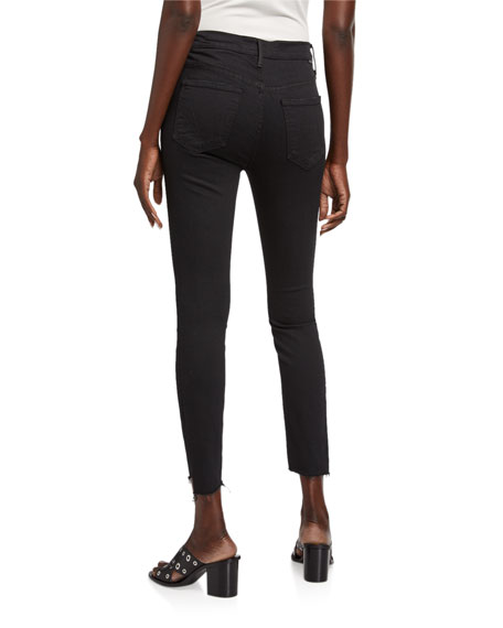 Image 2 of 3: MOTHER Stunner Zip Ankle Step Fray Skinny Jeans