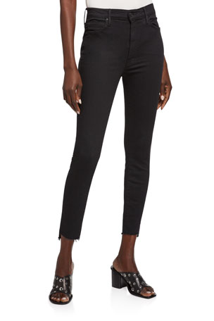 MOTHER Stunner Zip Ankle Step Fray Skinny Jeans