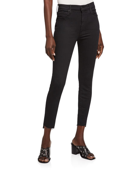 Image 1 of 3: MOTHER Stunner Zip Ankle Step Fray Skinny Jeans