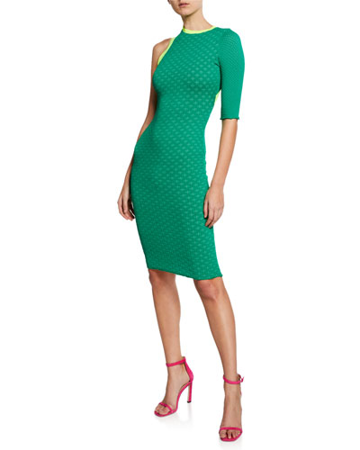 Beatrice One-Sleeve Cocktail Dress
