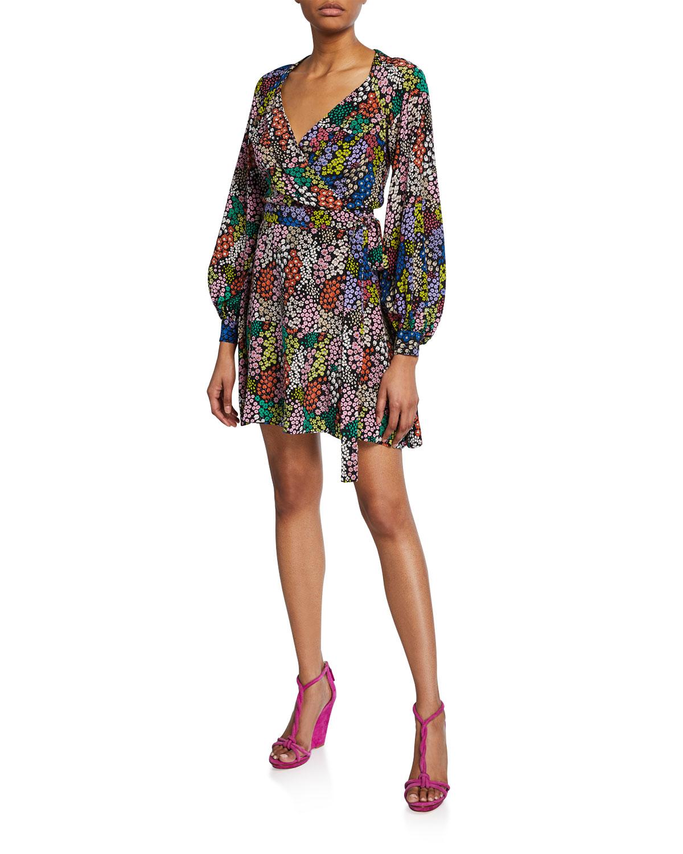 a946c2ae8a8 PINKO Clelia Floral-Print Wrap Dress