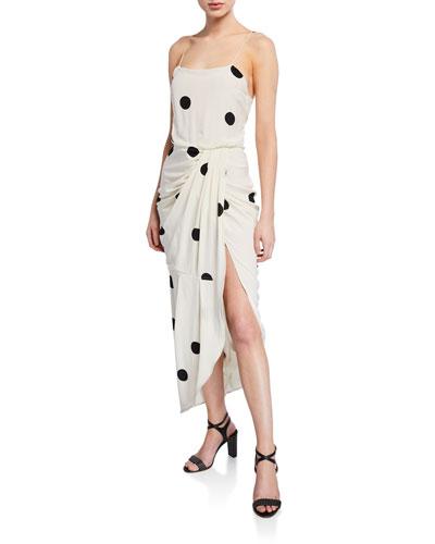 Dotted Cami Dress with Sarong Skirt
