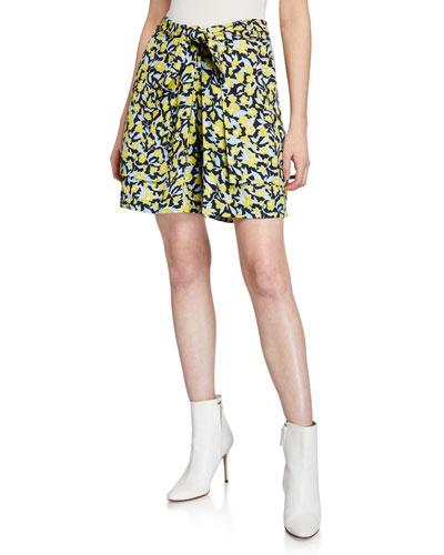 Paya Floral Print Wide-Leg Shorts