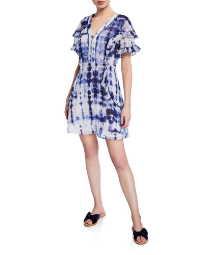 Rhett Tie-Dye Ruffle Trim Dress