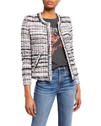 Gunta Open-Front Tweed Jacket