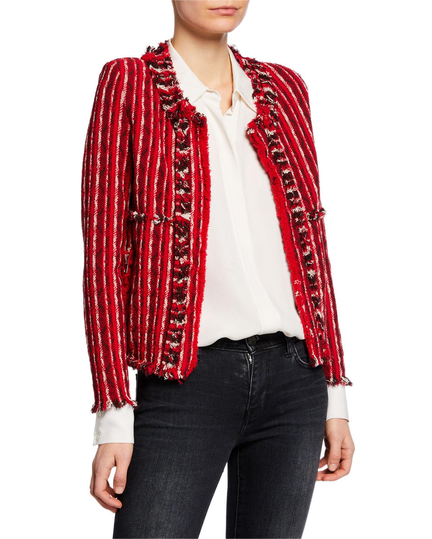 Iro Inland Open-Front Tweed Jacket