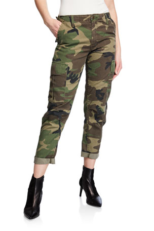 RE/DONE Camo-Print Straight-Leg Cargo Pants