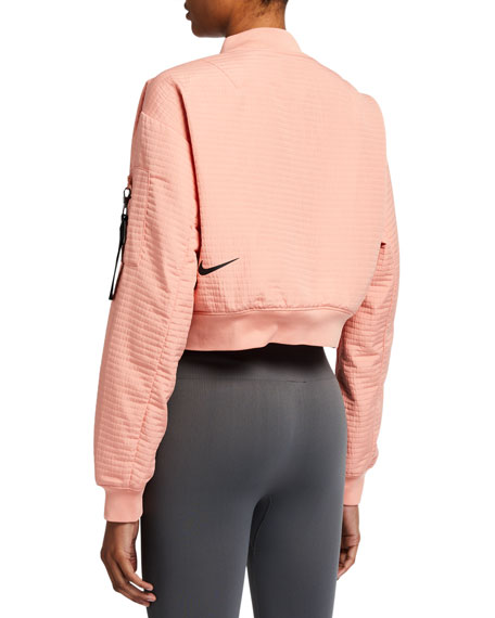 Nike Tech Pack Cropped Bomber Jacket