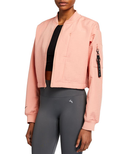 Tech Pack Cropped Bomber Jacket