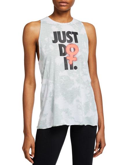 Nike Rebel Sleeveless Tie-Dye Split Top