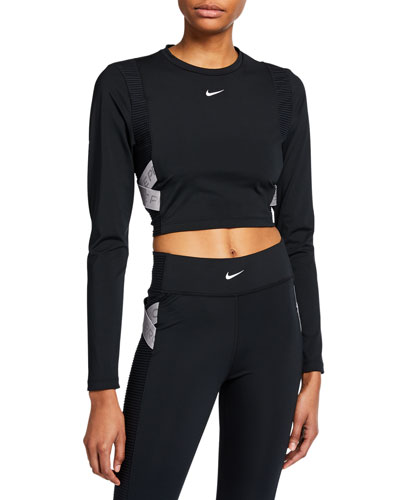Capsule Long-Sleeve Cropped Active Top