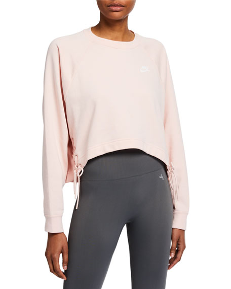 Nike Essential Fleece Crewneck with Lace-Up Sides