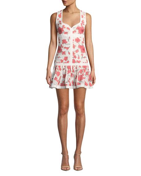 Alexis Dresses LILOU SLEEVELESS FLORAL SHORT DRESS