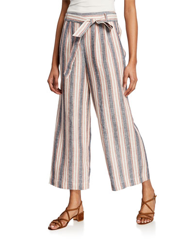 Striped Clean Linen Pants