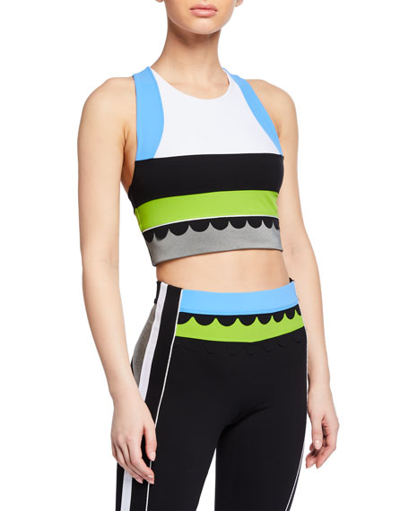 No Ka'oi LOLI HALULU COLORBLOCK HIGH-NECK SPORTS BRA
