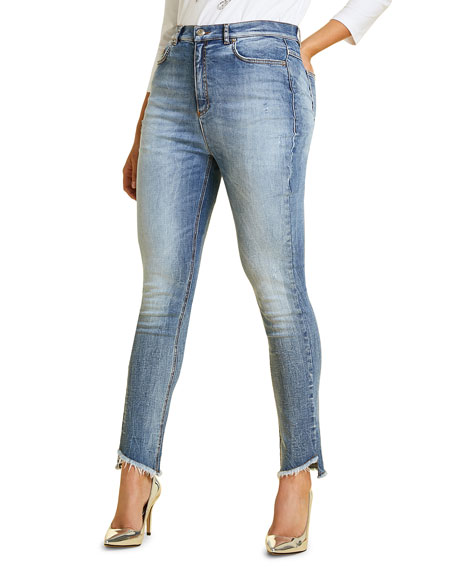 Marina Rinaldi  PLUS SIZE IDEALE SLIM JEANS WITH RAW HEM