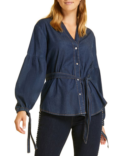 Balsamo Denim Shirt  Plus Size