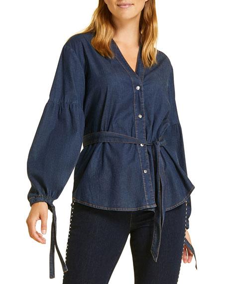 Marina Rinaldi Denims Plus Size Balsamo Denim Shirt