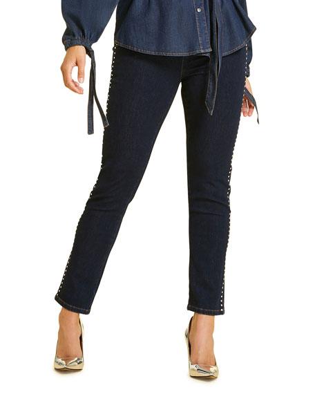 Marina Rinaldi Jeans PLUS SIZE IDIOMA STUDDED SKINNY JEANS