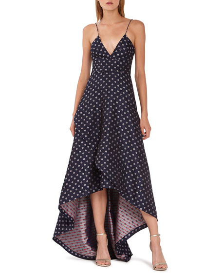 Ml Monique Lhuillier Tops FLORAL WRAPPED HIGH-LOW GOWN