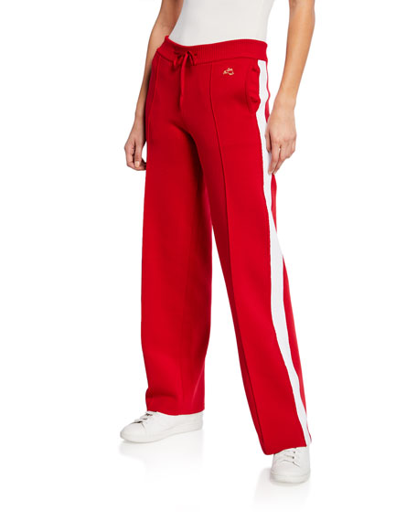 Bella Freud Pants MISSY STRAIGHT-LEG TRACK PANTS