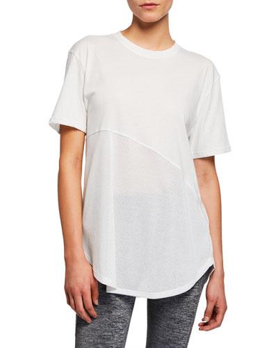 Lighter Longer Mesh Crewneck Short-Sleeve T-Shirt  White