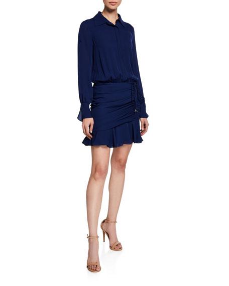 Ramy Brook Dresses BERKLEY SHIRRED FLOUNCE SHIRT DRESS