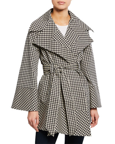 Ember Printed Open-Front Wrap Coat