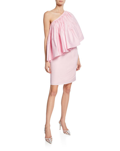 Layci One-Shoulder Ruffle Cocktail Dress