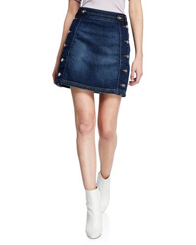 The Ballast Denim Skirt w/ Buttons