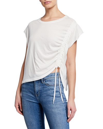 The Ruched Muscle Drawstring Tee
