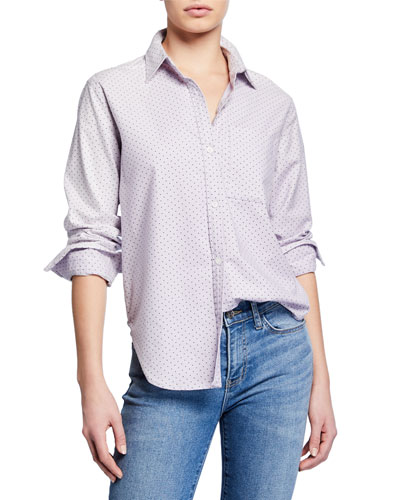 The Neal Button-Front Polka-Dot Shirt