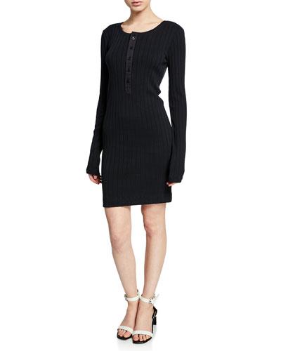 The Heather Ribbed Body-Con Mini Dress