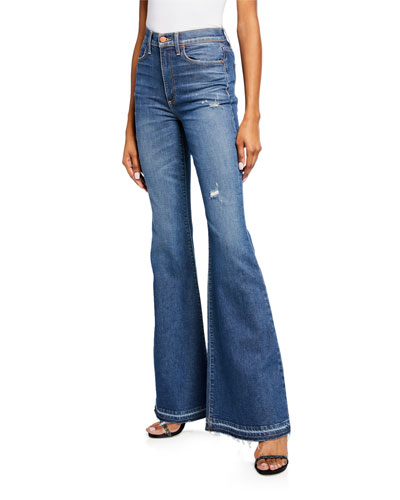 Beautiful High-Rise Bell-Bottom Jeans