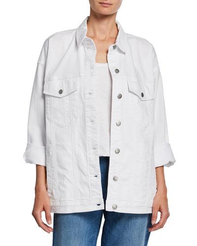 Organic Stretch-Cotton Relaxed Denim Jacket