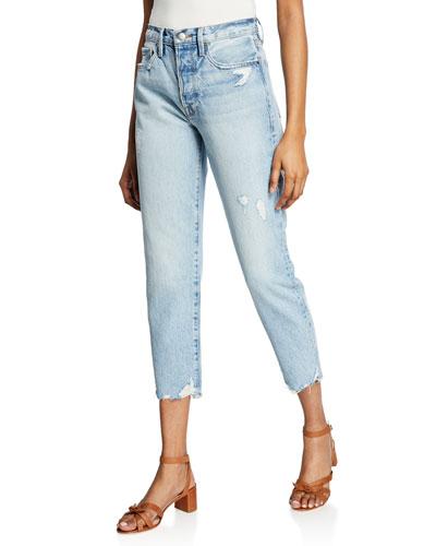 Le Original High-Rise Straight Crop Jeans