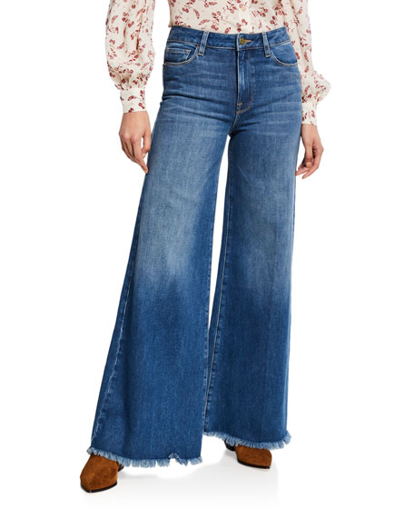 Frame Jeans LE PALAZZO RAW-EDGE FLARE JEANS