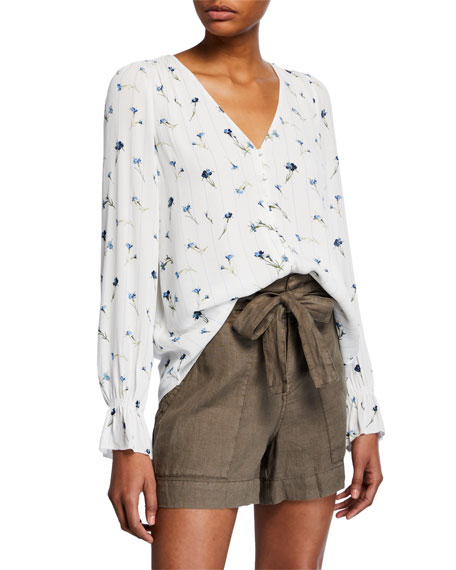 Joie Tops BOLONA FLORAL HIGH-LOW TOP
