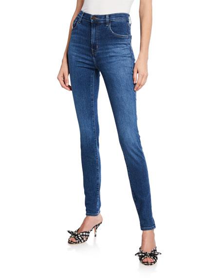 J Brand Jeans CAROLINA SUPER HIGH-RISE SKINNY JEANS