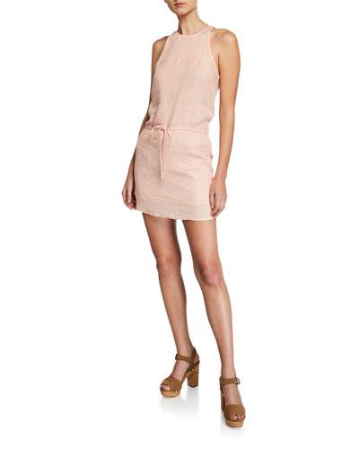 Diega B Halter Mini Linen Dress