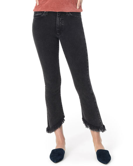 Joe's Jeans Jeans CALLIE CROPPED BOOT-CUT FRAYED JEANS