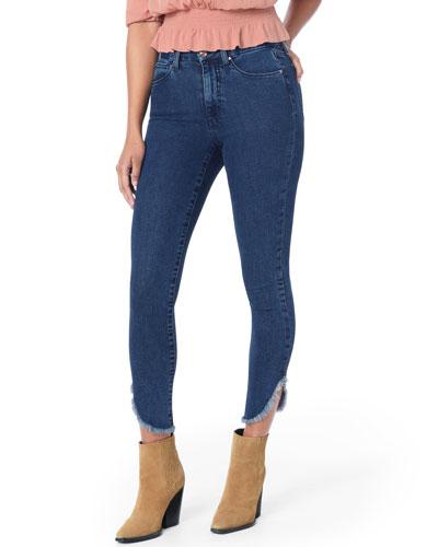 Honey Dolphin Frayed Hem Ankle Jeans