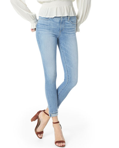 The Icon Crop Cuffed Skinny-Leg Jeans